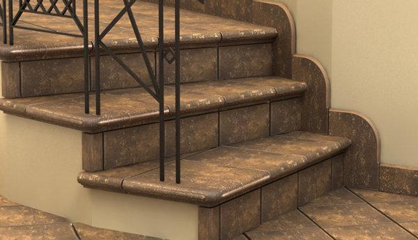 Лестница из бетона с керамогранитом
