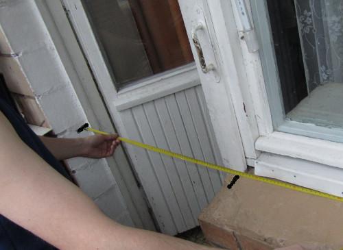 Как сделал окно и дверь 552