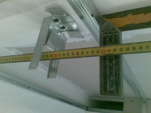 Монтаж реечного потолка, замер