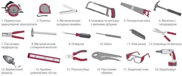 Монтаж сайдинга, инструменты