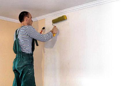 Грунтовка стен под подкраску