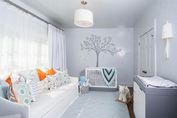 Оформление детской комнаты. Серый цвет