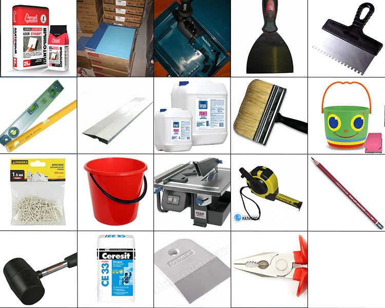 Укладка ПВХ плитки, инструменты
