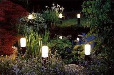 Ландшафтное освещение, виды