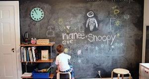 Оформление детской комнаты, меловая доска