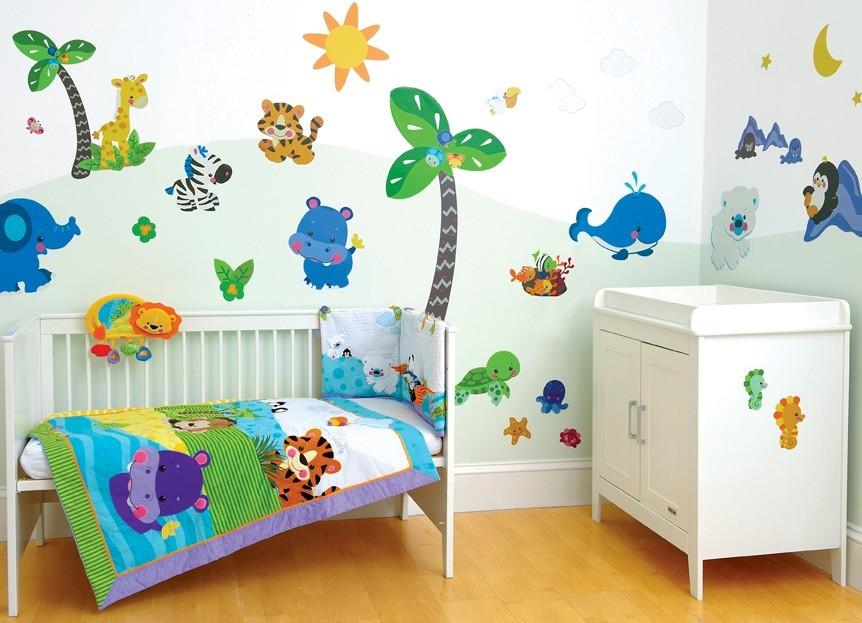 Оформление детской комнаты, виниловые наклейки