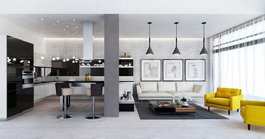 Идеи минимализма в гостиной